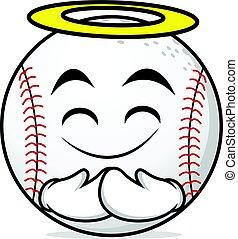 Innocent face baseball cartoon character