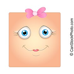 Innocent Face Expression - Cute Smile Smiley Cartoon Face...