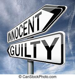innocent guilty - innocent or guilty, presumption of...