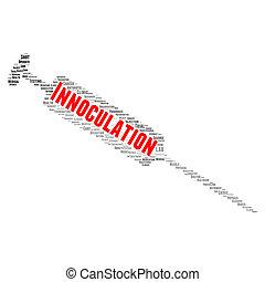 innoculation, parola, nuvola, concetto