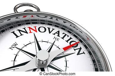 innovación, concepto, compás