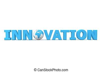 innovación, mundo, azul