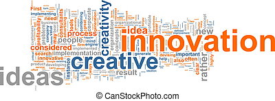 innovación, palabra, nube