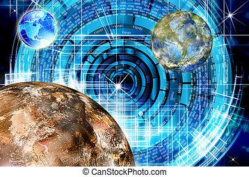 innovador, investigación, espacio