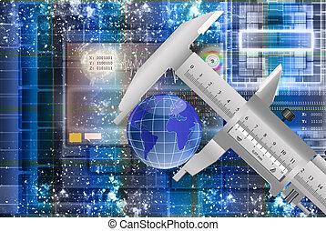 innovador, metrology, espacio