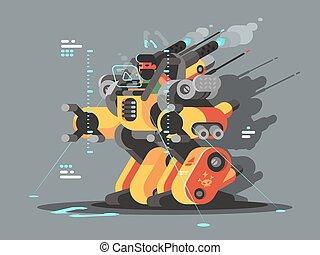 innovador, robot, exoskeleton