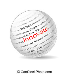 innovate - Illustration ball with inscription innovate, on a...