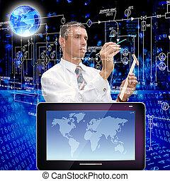 innovateur, ordinateurs, création