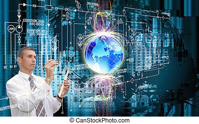innovateur, technologie, concevoir