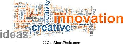 innovatie, woord, wolk
