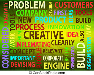 Innovation and creative words - Concept of innovation and...