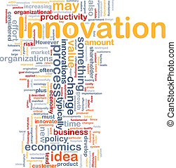 Innovation business background concept