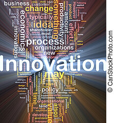 Background concept illustration of business innovation change glowing light