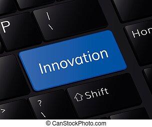 innovation button on keyboard. innovation concept . innovation illustration