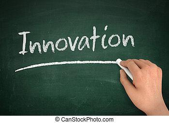 innovation chalkboard write concept  3d illustration