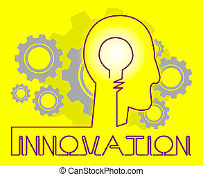 Innovation Cogs Shows Reorganization Transformation And...