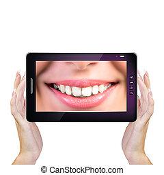 Innovation Computing technology in Dental medicine. Stomatology concept