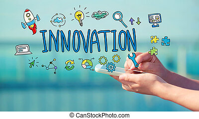 Innovation concept with smartphone
