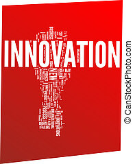 Innovation word cloud illustration. Vector background
