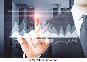 innovation, et, croissance financière, concept