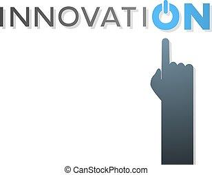 innovation finger hand illustration button