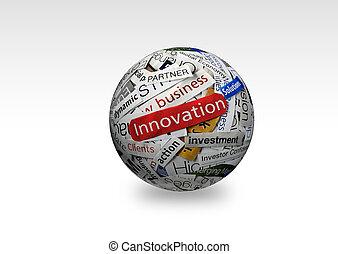 innovation, geschaeftswelt, 3d