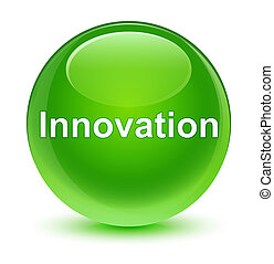 Innovation glassy green round button