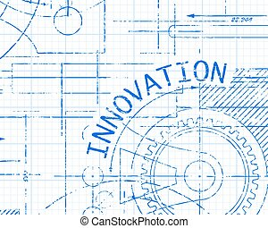 Innovation Graph Paper Machine - Hand drawn innovation sign...