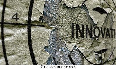 Innovation grunge target concept