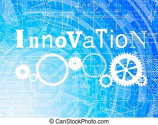 Innovation High Tech Background - Innovation word on high...