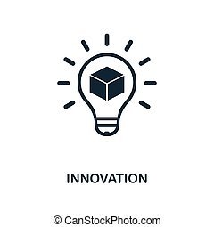 Innovation icon. Monochrome style design from blockchain icon collection. UI and UX. Pixel perfect innovation icon. For web design, apps, software, print usage.