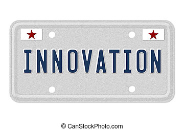 innovation, licence, voiture, plaque