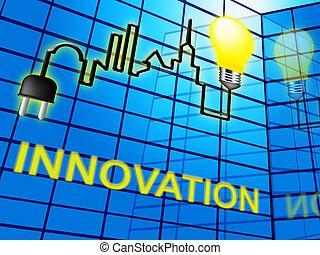 Innovation Lightbulb Shows Reorganization Transformation 3d...