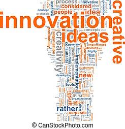 innovation, mot, nuage