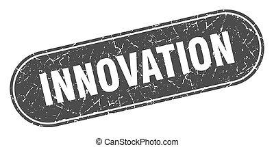 innovation sign. innovation grunge black stamp. Label