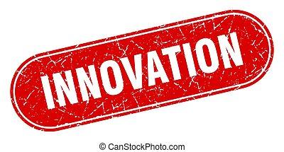 innovation sign. innovation grunge red stamp. Label