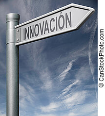 innovation Spanish sign clipping path