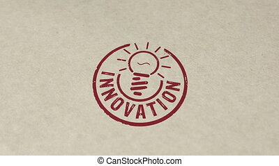 Innovation stamp and stamping animation