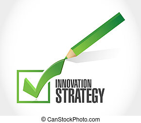 Innovation Strategy check mark isolated sign