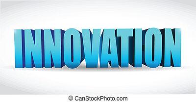 innovation text illustration design over a white background