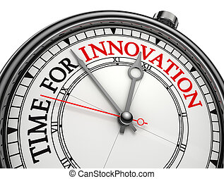 innovation time concept clock isolated on white background...