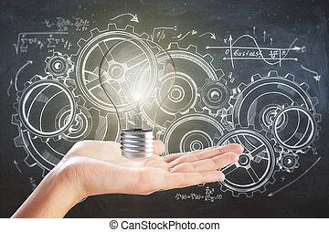 innovation, und, technik, begriff