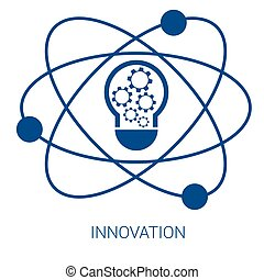 Innovation vector blue flat icon