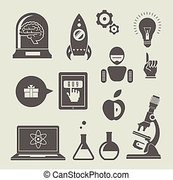 Innovation - Vector set of icons for innovation and science