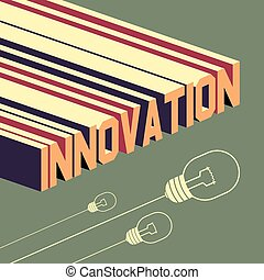 Innovation word. Abstract background with 3D-effect.