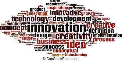Innovation word cloud concept. Vector illustration