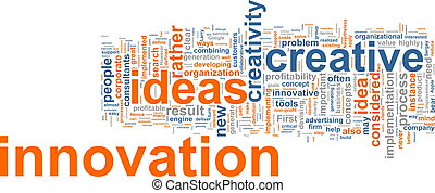 Innovation word cloud - Word cloud concept illustration of...