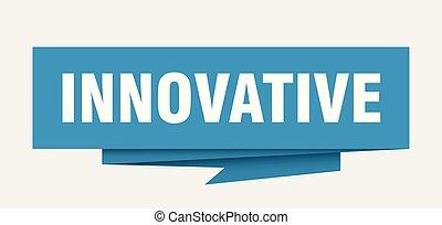 innovative sign. innovative paper origami speech bubble. ...