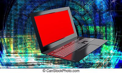 innovativo, computer, tecnologia internet, per, affari globali