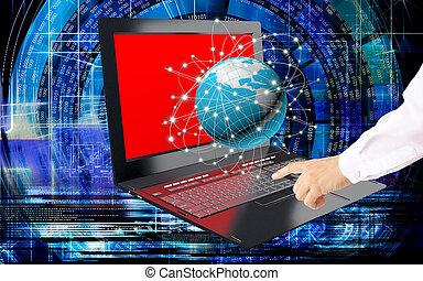 innovativo, globale, tecnologia,  internet,  computer